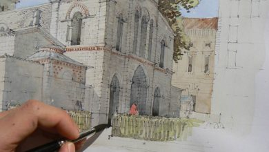 Photo of Cathedral drawing Shouldn't be hard read these steps